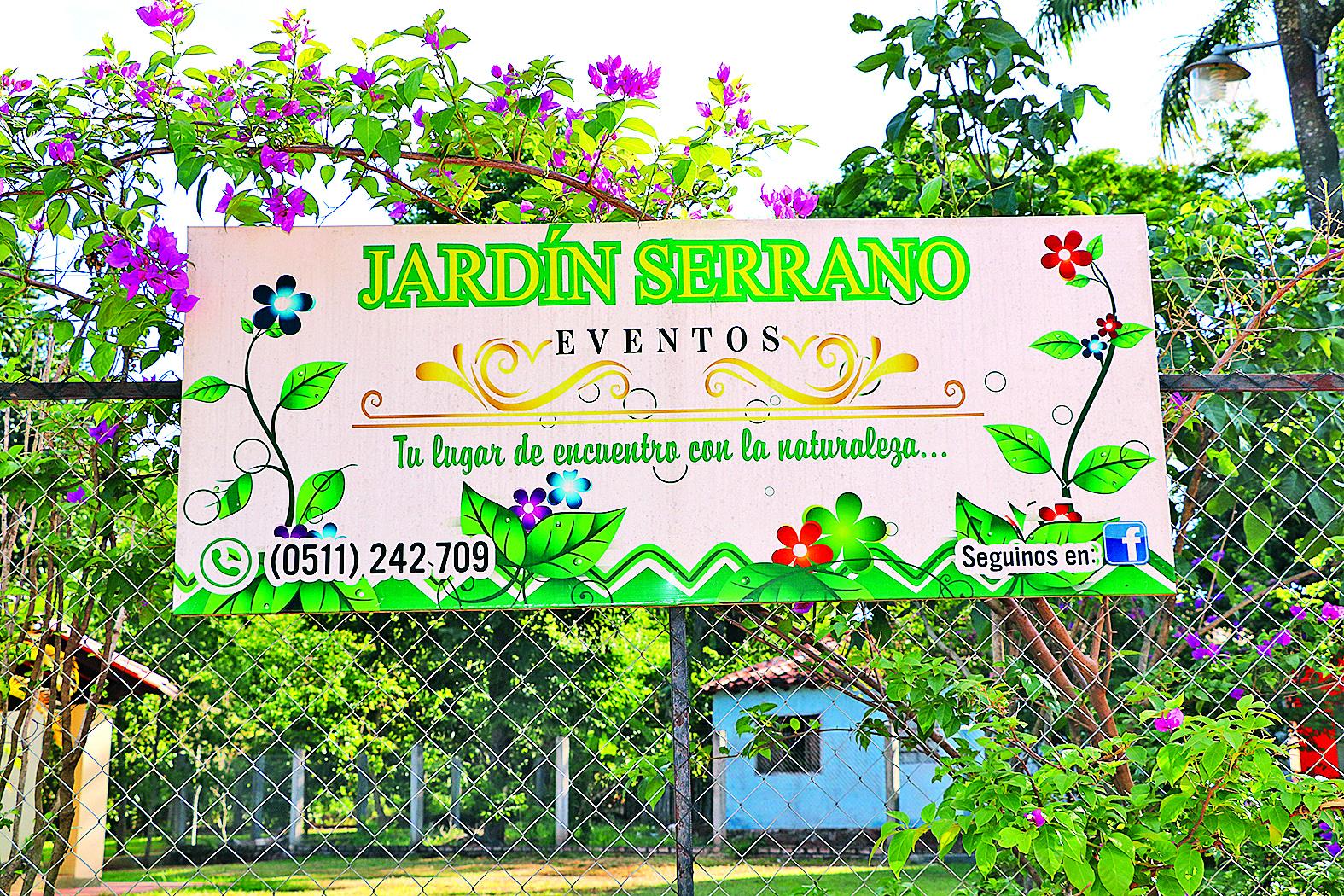 Jardín Serrano: Un lugar para salir de la rutina
