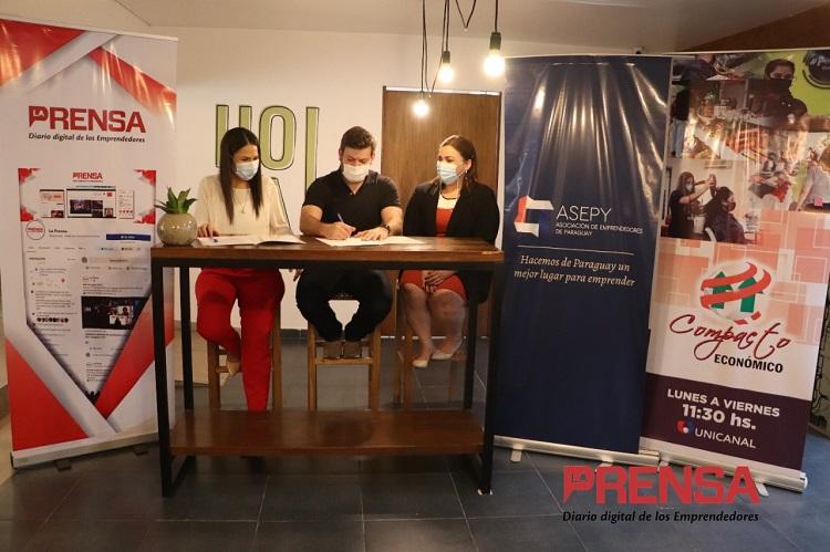 Asepy firma alianza para dar mayor visibilidad  a emprendedores en medios de comunicación